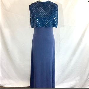 NWOT St John Evening, slate blue sequin gown